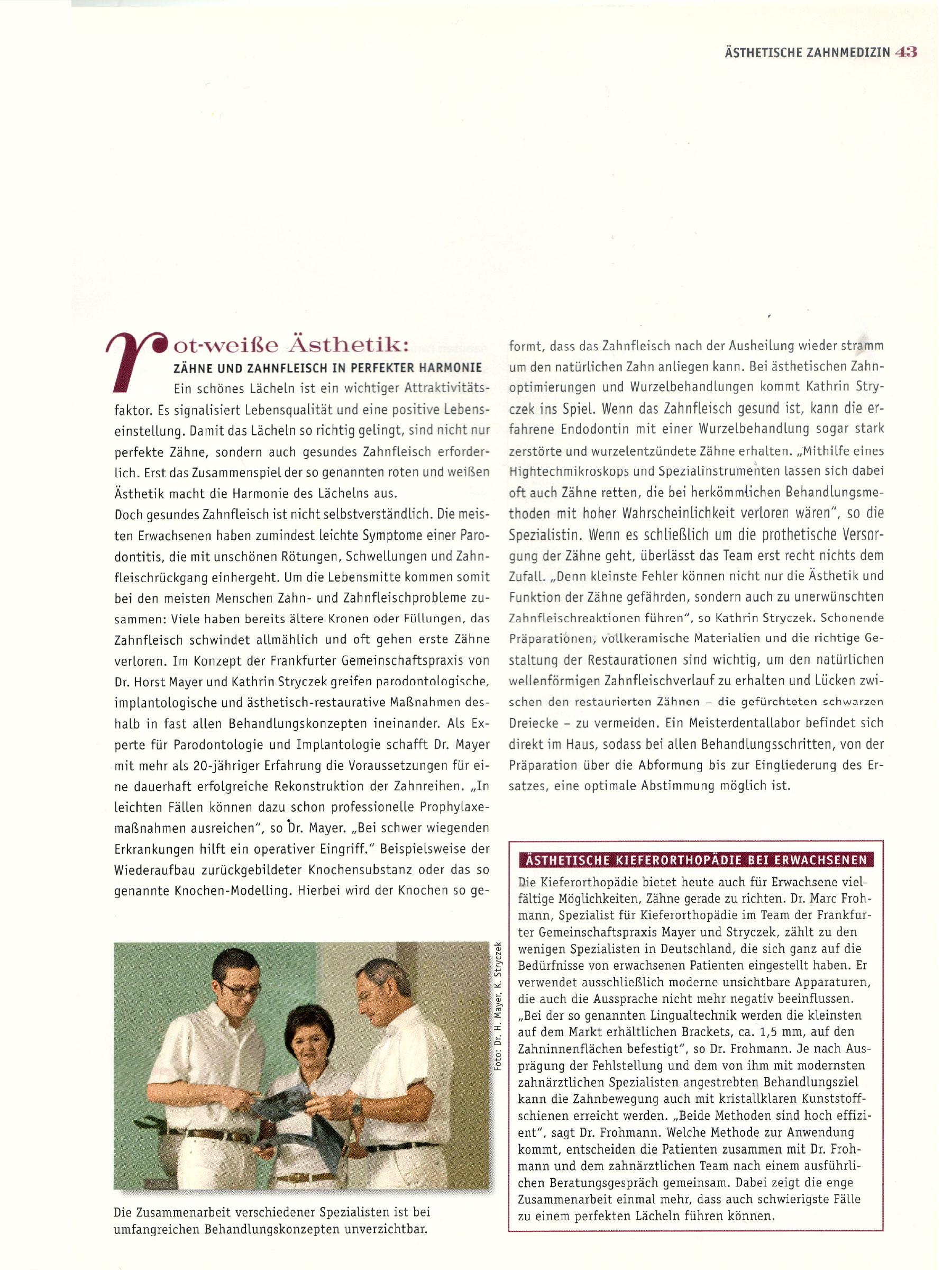 """""""Schöne Zähne. Das Lexikon der modernen Zahnmedizin."""" Sonderpublikation, 03/2004"""